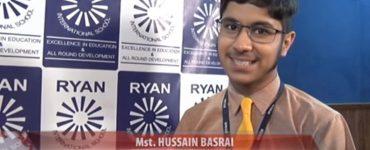Ryan International School Blog - Interview: ICSE 2019 Topper Husain Basrai (AIR 3)