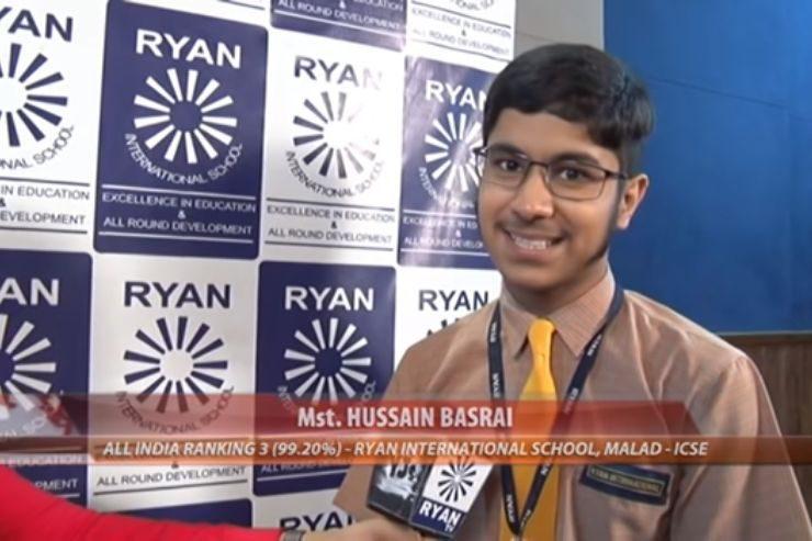 Ryan International School, Malad ICSE- Interview: ICSE 2019 Topper Husain Basrai (AIR 3)